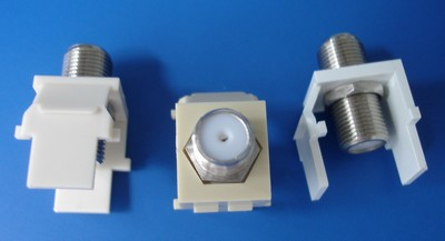 made in china  F-A01 U1001 F-Connectoron Keystone White Light Almond   corporation
